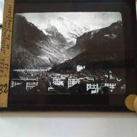 Suisse Montagne Jungfrau Staubbach photographies anciennes sur verre Munster
