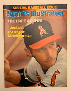 Sports Illustrated April 11, 1977 Joe Rudi California Angels Cover Only 4/11/77
