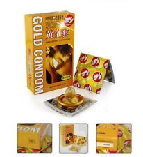 Luxury Gold Condom Latex Condoms 10 pcs penis ejaculation delay  A16