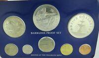 .1976 BARBADOS FRANKLIN MINT 8 COIN PROOF SET.