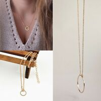 Chain Clavicle Necklace Pendant Gift Round Jewelry