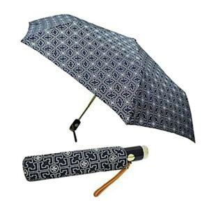 NEW Tory Burch Lux 3T Logo Tory Navy Umbrella