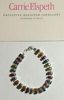 Carrie Elspeth Rainbow Links Bracelet Necklace Handmade Wales B589 / N589