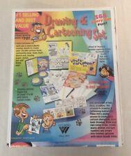 Webber Art Drawing & Cartooning Set New In Box Instructions CD's 2001