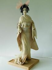 Nishi & co. Geisha doll on stand 18 inches tall made in Japan