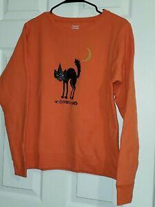 "Hanes Eco Smart Soft Sweats ""Don't Cross My Path""  Halloween Shirt - Size Medium"