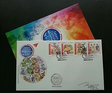 Malaysia International Definitive 2016 Tiger Fruit Costume (FDC) *low *signed