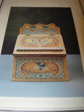 FOLK ART RECIPE BOX PATTERN TOLE PAINTING WOOD WOODEN PROJECT CRAFTS TOLEWARE