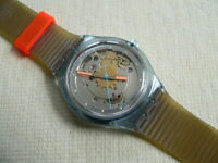1991 First edition Automatic Swiss swatch watch Blue Matic SAN100