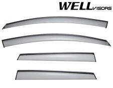 WellVisors Side Window Visors Deflectors W/ Black Trim For 09-14 Nissan Murano