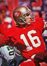 Joe Montana Limited Edition Art  Card 1 of 49 San Francisco 49ers