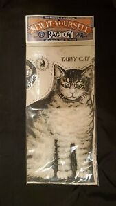 "Vintage Primitive TABBY CAT The Toy Works Sew-It- Yourself Rag Toy 14"" Pattern"