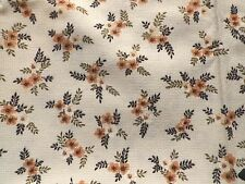 Vintage 1940's Basket Weave Fabric Floral Caravan Campervan Unused