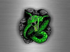 sticker car auto moto tuning decals vinyl jdm biker snake skull reptile