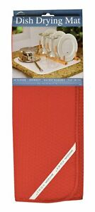 Envision Home 16 x 18 Inches Microfiber Dish Drying Mat, Red