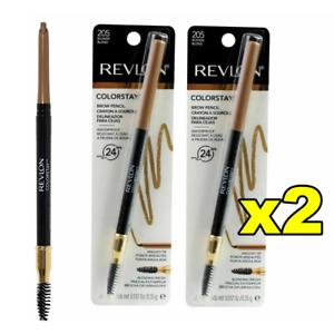 2x Revlon ColorStay Brow Pencil Eyebrow Crayon Pencil Definer 205 Blonde