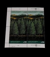 U.N. 1988, GENEVA #165-166, SURVIVAL OF THE FORESTS, INSC. BLK/4, NICE! LQQK!