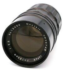 Vintage Mayfair Crystar 135mm f/3.5-22 m42 Camera Lens Medium Telephoto