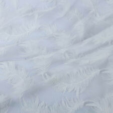 Gauze Swiss Voile Lace Feather Embroidered Tulle Net Lace Fabric BY YARD