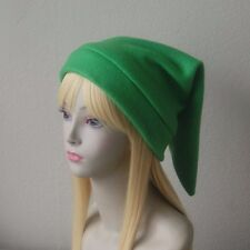Fleece Link Hat Legend of Zelda Inspired Classic Kokiri GREEN Video Game Cosplay