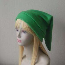Fleece Link Hat Legend of Zelda Inspired Classic Kokiri GREEN Video Game Cosplay