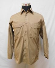 Cabelas Tan Button Front Fishing Shirt M