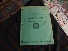 1969 Us Army Handbook On Retired Sevices Personnel & Families Vg !