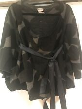 Dries Van Noten Oversized Wool Gray Sweater Falling Off The Shoulder One Size M