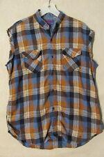 "S6159 Ponderosa Men's Large Multi-Color Plaid Wool ""Redneck"" Grunge Shirt"