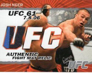 Josh Neer 2009 Topps UFC Round Two Fight Mat Relic