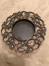 Partylite Jewels Pillar Candle Holder Tray 3� Diameter Candle 6� Total Diameter