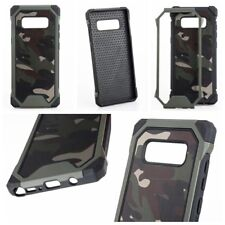 Samsung Galaxy Note 8 - Hard Hybrid Shockproof Armor Case Cover Camo Green Army