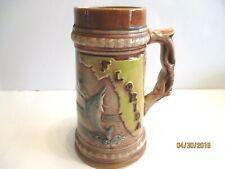 Florida 20 Oz. Ceramic Beer Stein Brown Tones Raised Graphics