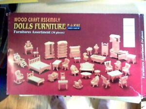 24th Conjunto de 34 piezas de muebles de escala Casa de Muñecas en Miniatura 1//24 Escala