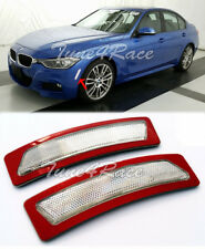 For 13-15 BMW F30 F31 3-Series M SPORT Bumper Reflector CLEAR Side Marker Lights