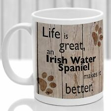 Irish Water Spaniel Chien Mug, Irish Water Chien Cadeau, Idéal Cadeau Pour Dog Amant