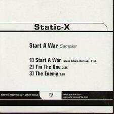 STATIC-X Start A War Sampler CD UK Warner Bros 2005 3 Track Promo In Special