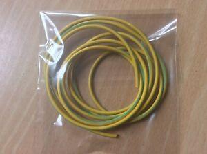Earth Sleeving - PVC - Niglon - Electrical - 3mm - Green/Yellow - 2m Length