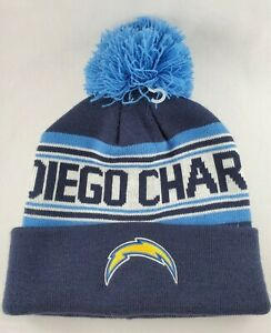 San Diego Chargers Football NFL Bobble Knit Hat Cap Beanie Youth 8-20 New Era