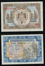 """ESPAÑA 1 peseta SIN SERIE Junio 1940 """"Hernan Cortes"""". Nº 2525809. SC . PLANCHA."""