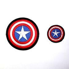 Lot 2 Captian America Civil War Marvel Comic Hero Shirt Jeans Cap Iron on Patch