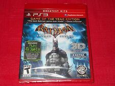 BATMAN ARKHAM ASYLUM  GREATEST HITS  PS3  FACTORY SEALED  FAST FREE SHIPPING!!!