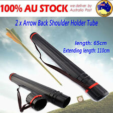 2PCS ARROW STORAGE CASE-SUPER PORTABLE BLACK PLASTIC FOR COMPOUND BOWS ARCHERY Z