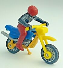 Matchbox Dirt Bike With Rider Metal Plastic Yellow Red Blue BLK Motorcycle 1998
