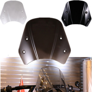 Universal Smoke Retro Motorcycle Headlight Fairing Windshield Windscreen