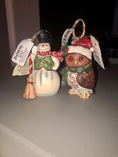 Jim Shore Christmas Ornaments (2)