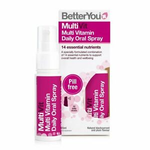 BetterYou MultiVit Oral Spray 14 essential nutrients 25ml ( Free Delivery )