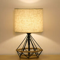 HAITRAL Bedside Table Lamps Minimalist Nightstand Lamp Modern Basket Cage Style
