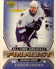 2005/06 Trevor Linden Vancouver Canucks NHL Hockey All Time Greats Finalist Card