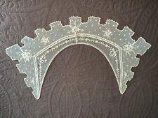 Antique Off White Schiffli Lace Collar